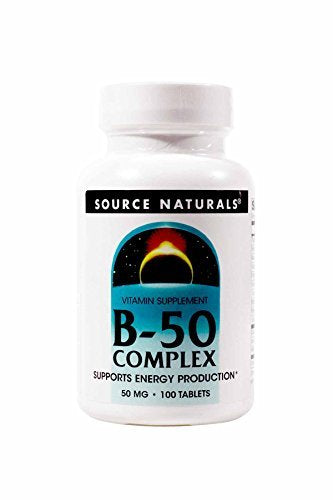 Source Naturals B-50 Complex 50 mg 100 Tablets