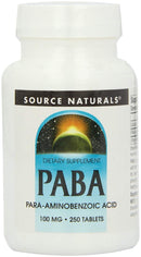 Source Naturals PABA 100 mg 250 Tablets