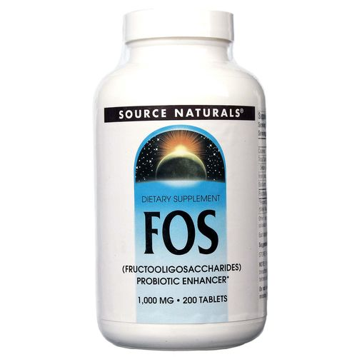 Source Naturals FOS 1,000 mg 200 Tablets