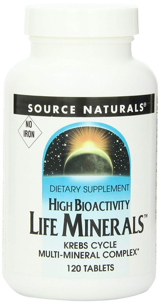 Source Naturals Life Minerals No Iron 120 Tablets