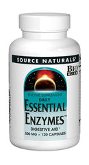 Source Naturals Daily Essential Enzymes 500 mg 120 Capsules