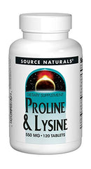 Source Naturals L-Proline/L-Lysine 275 mg 120 Tablets