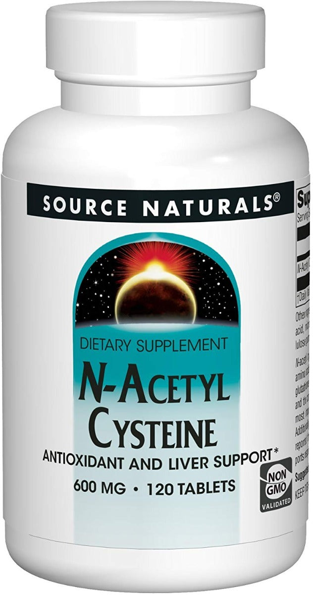 Source Naturals N-Acetyl Cysteine 600 mg 120 Tablets