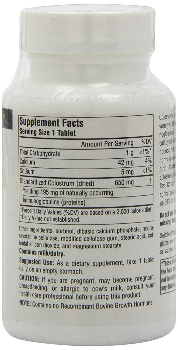 Source Naturals Colostrum 650 mg 60 Tablets