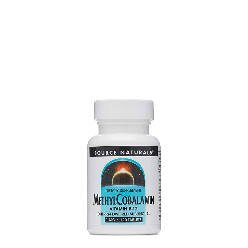 Source Naturals MethylCobalamin Cherry 1 mg 120 Tablets