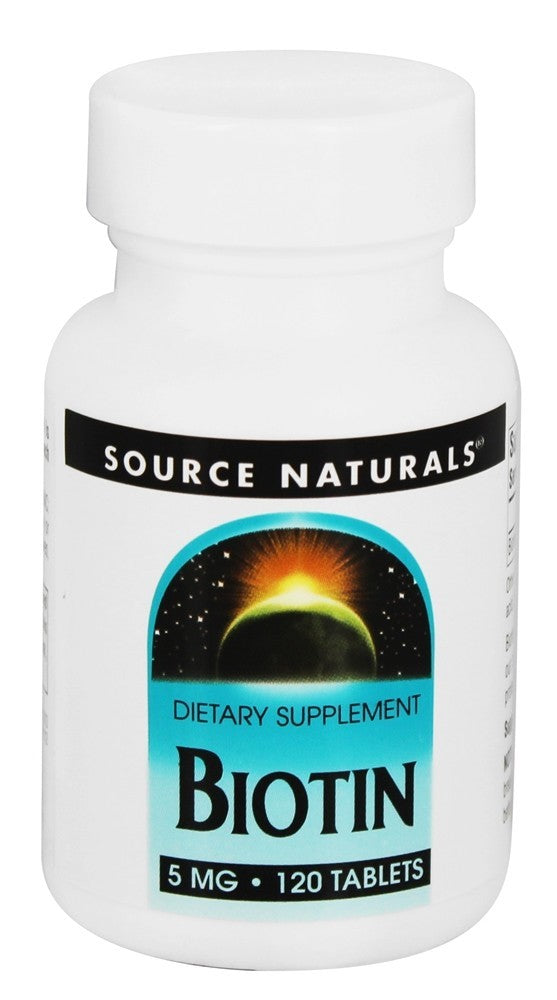 Source Naturals Biotin 5 mg 120 Tablets