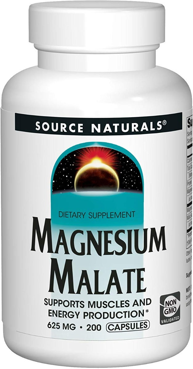 Source Naturals Magnesium Malate 625 mg 200 Capsules