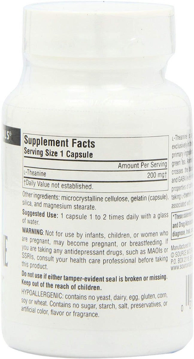 Source Naturals L-Theanine 200 mg 60 Capsules