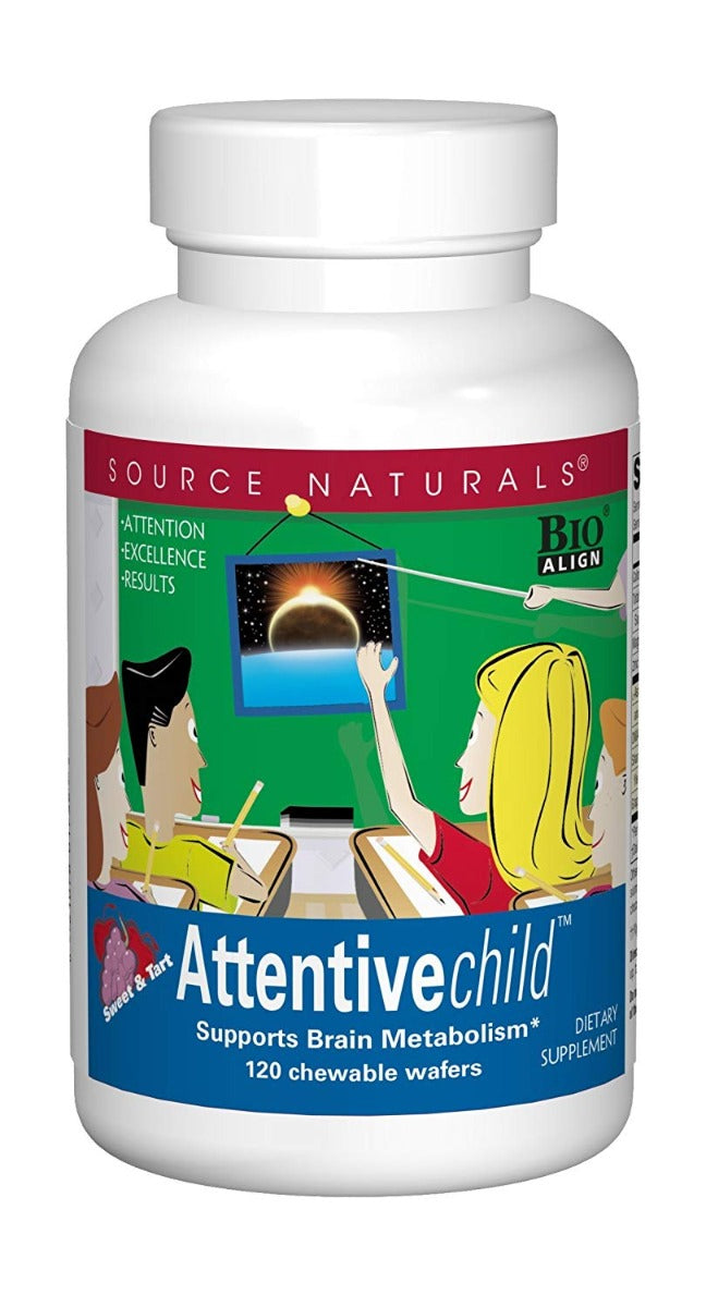 Source Naturals Attentive Child 120 Chewable Wafers