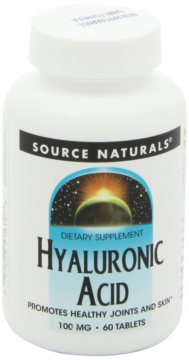 Source Naturals Hyaluronic Acid 100 mg 60 Tablets