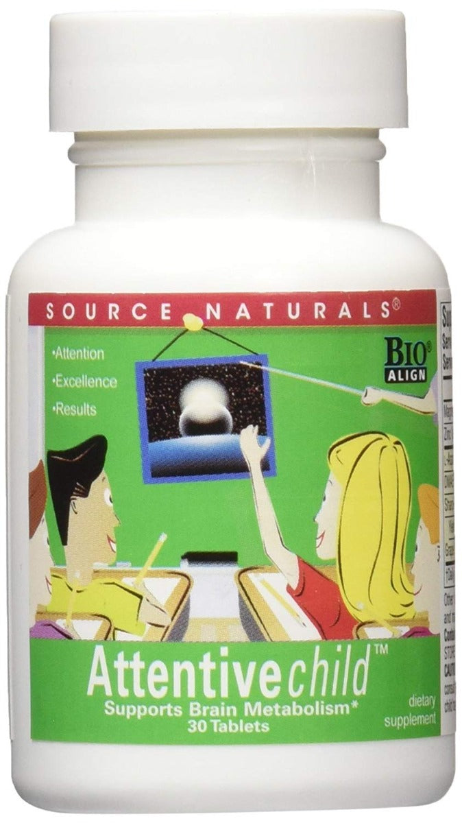 Source Naturals Attentive Child 30 Tablets