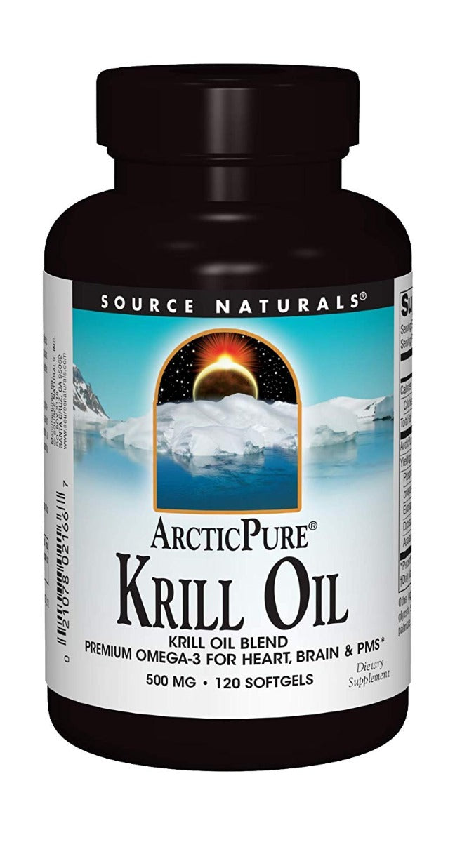 Source Naturals ArcticPure Krill Oil 500 mg 120 Softgels