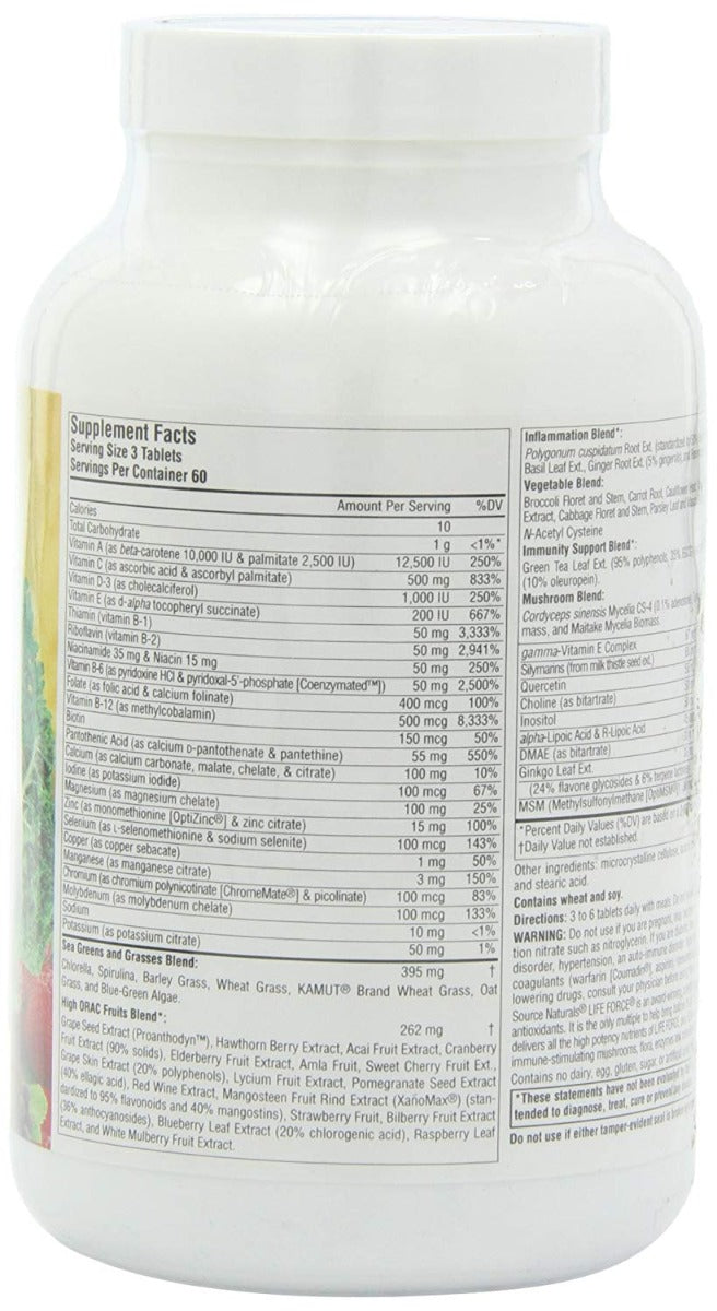 Source Naturals Life Force Green Multiple 180 Tablets