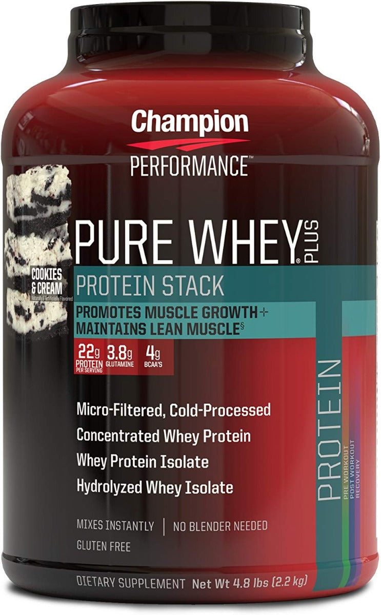Champion Nutrition Pure Whey Plus Protein Cookies & Cream 4.8 lb