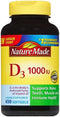 Nature Made Vitamin D3 1,000 IU 650 Softgels