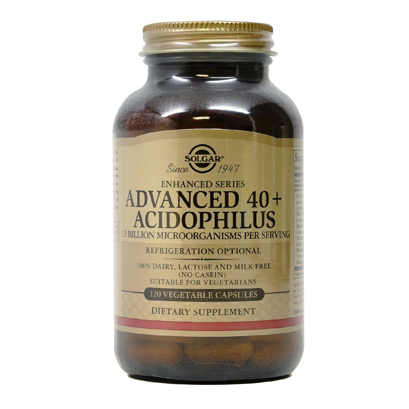 Solgar Advanced 40+ Acidophilus 120 Veg Capsules