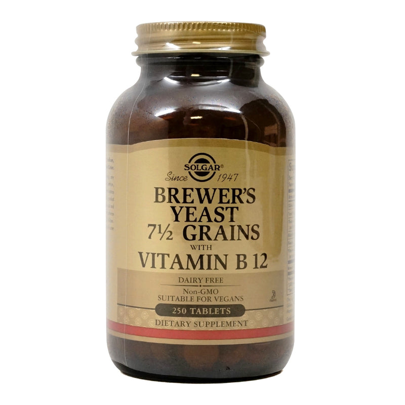Solgar Brewer's Yeast 7 1/2 Grains with Vitamin B12 250 Tablets