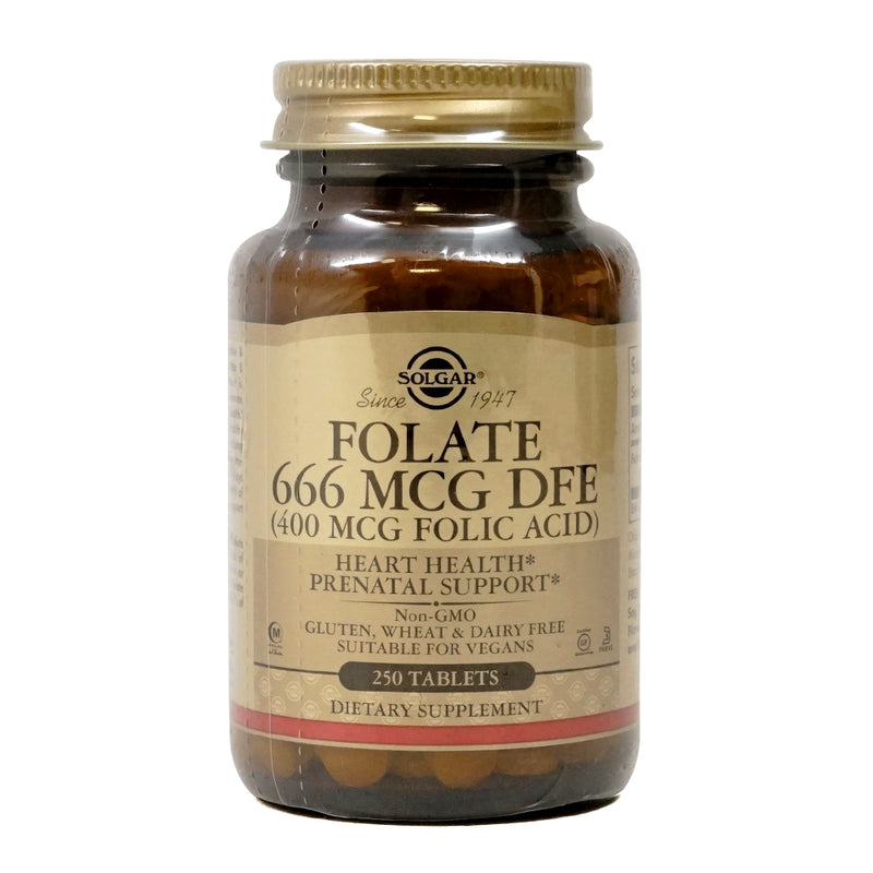 Solgar Folate (400 mcg Folic Acid) 666 mcg DFE 250 Tablets