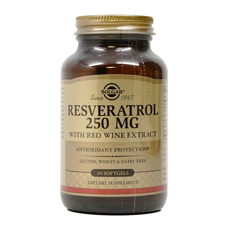 Solgar Resveratrol 250 mg 60 Softgels
