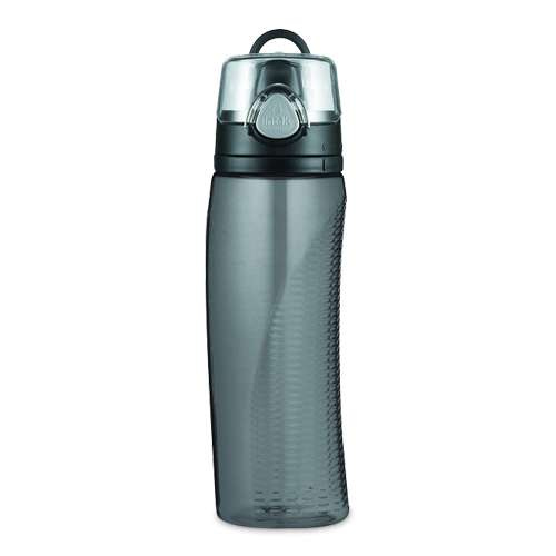 Thermos Hydration Bottle with Rotating Intake Meter Smoke 24 oz