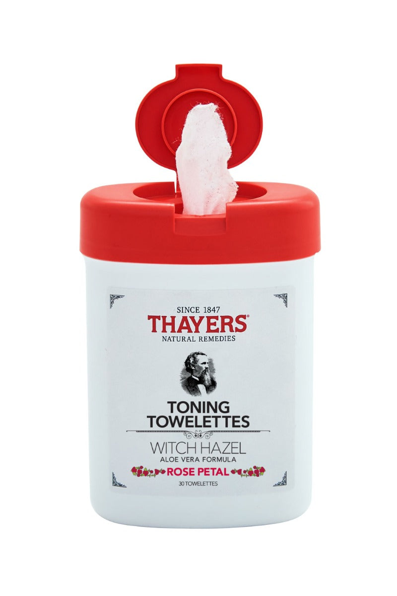 Thayers Witch Hazel Toning Towelettes Rose Petal 30 Towelettes