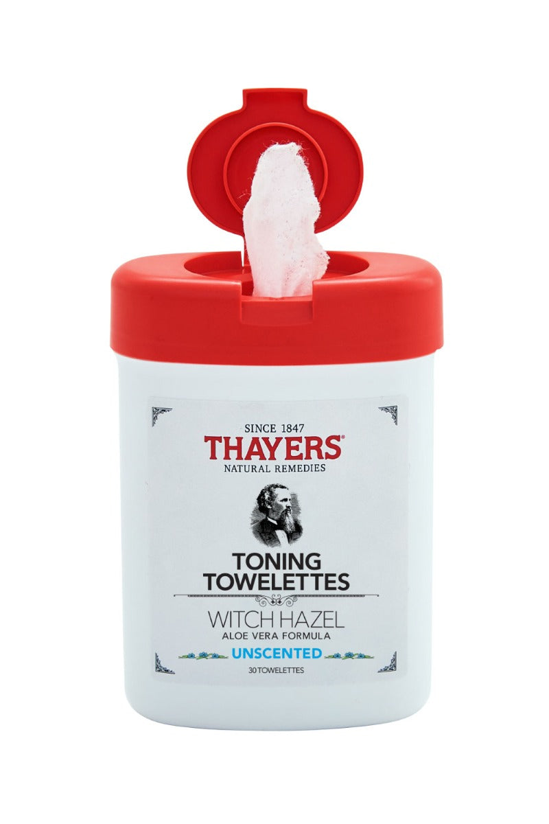 Thayers Witch Hazel Toning Towelettes Unscented 30 Towelettes