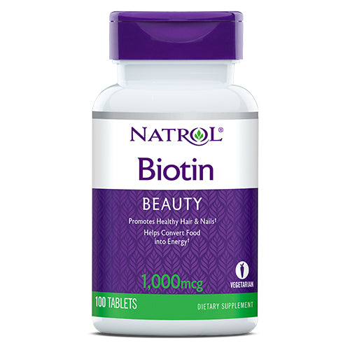 NATROL Biotin Beauty 1,000 mcg 100 Tablets
