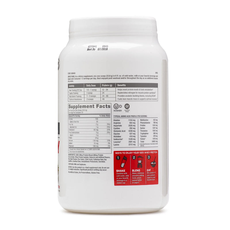 GNC Pro Performance 100% Whey Creamy Strawberry 1.86 lb
