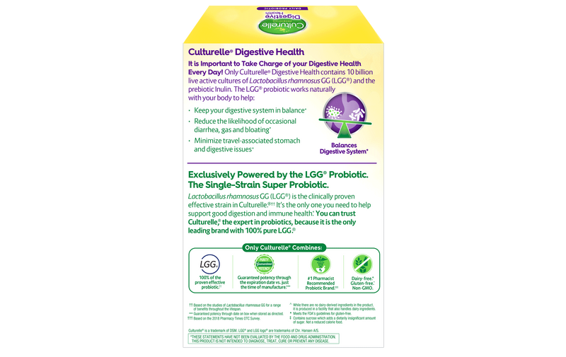 Culturelle Digestive Health Daily Probiotic 30 Veg Capsules