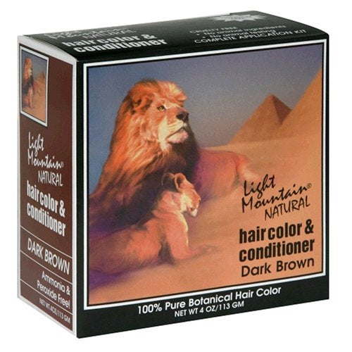Light Mountain Natural Hair Color & Conditioner  Dark Brown 4 oz