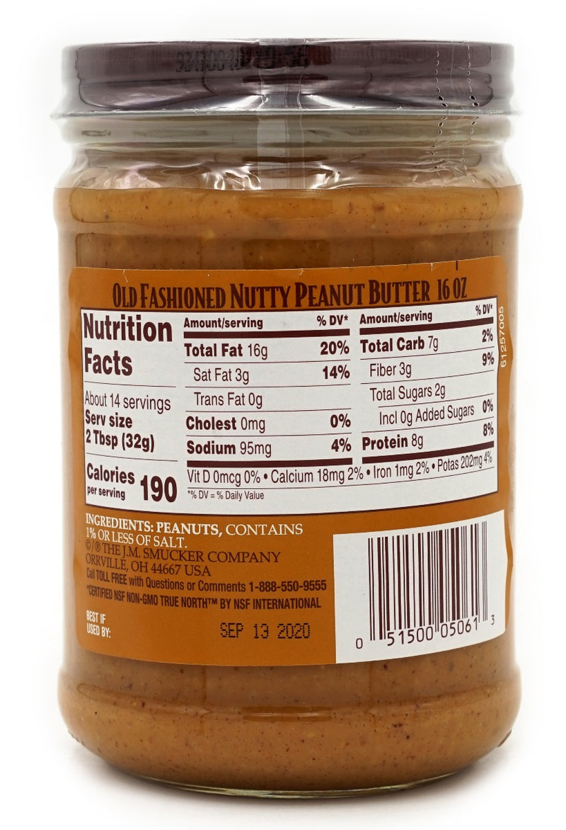 Laura Scudder Old Fashioned Peanut Butter Nutty 16 oz