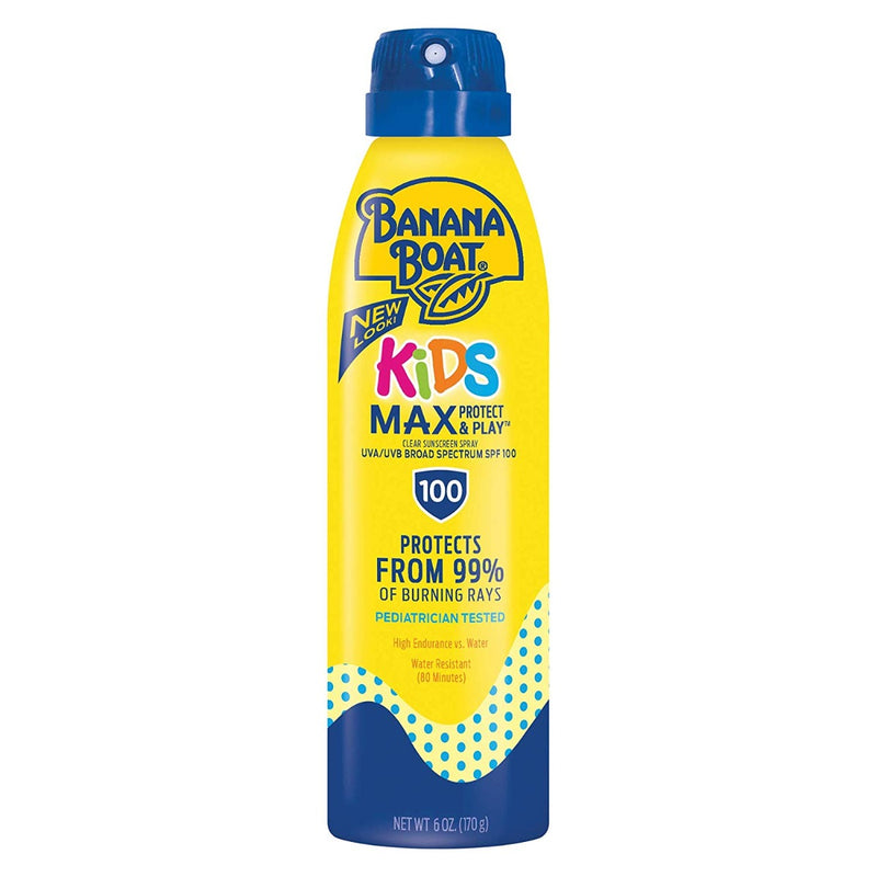 Banana Boat Kids Max Protect & Play Sunscreen Spray SPF 100 6 oz