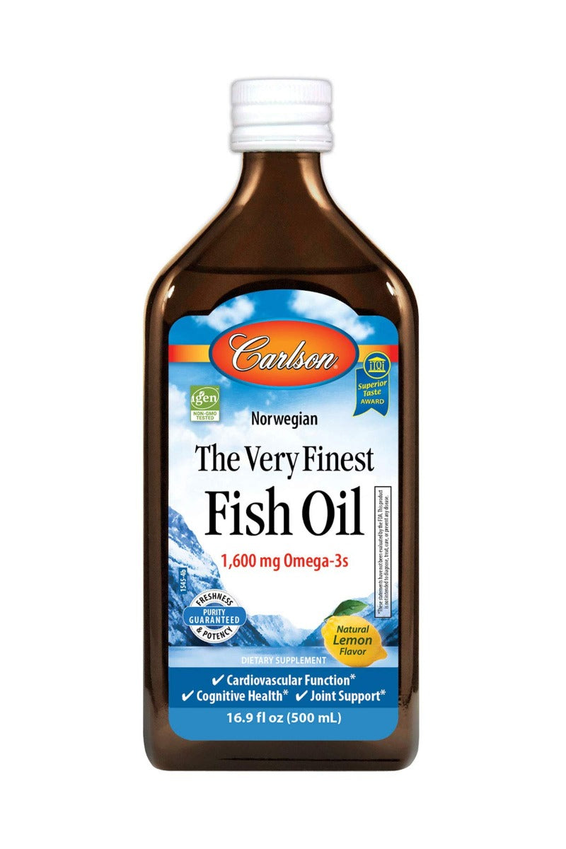 Carlson Labs The Very Finest Fish Oil Lemon 16.9 fl oz