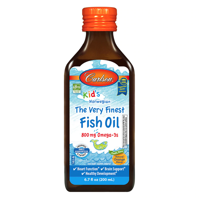 Carlson Labs Kid's The Very Finest Fish Oil Orange 6.7 fl oz