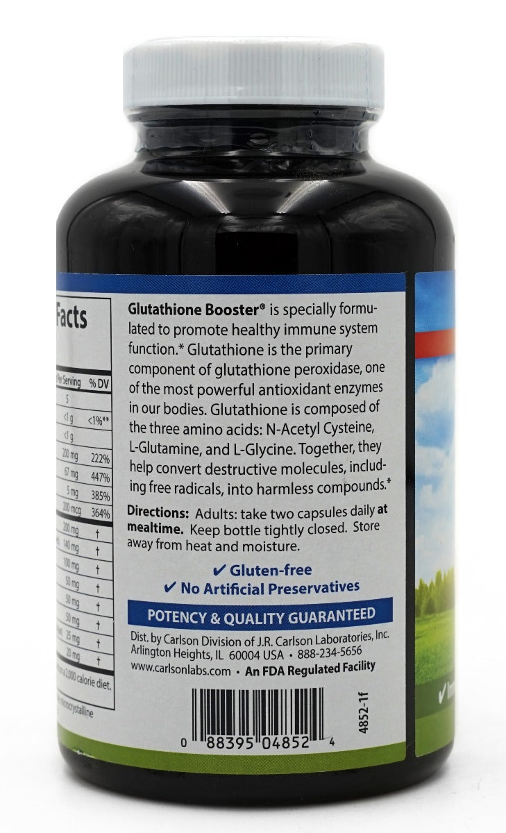 Carlson Labs Glutathione Booster with Alpha Lipoic Acid 180 Capsules