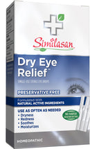 Similasan Dry Eye Relief Single-Use Sterile Eye Drops 20 Droppers