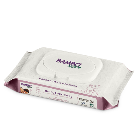 Bambo Nature Tidy Bottom Wipes 50 Pieces