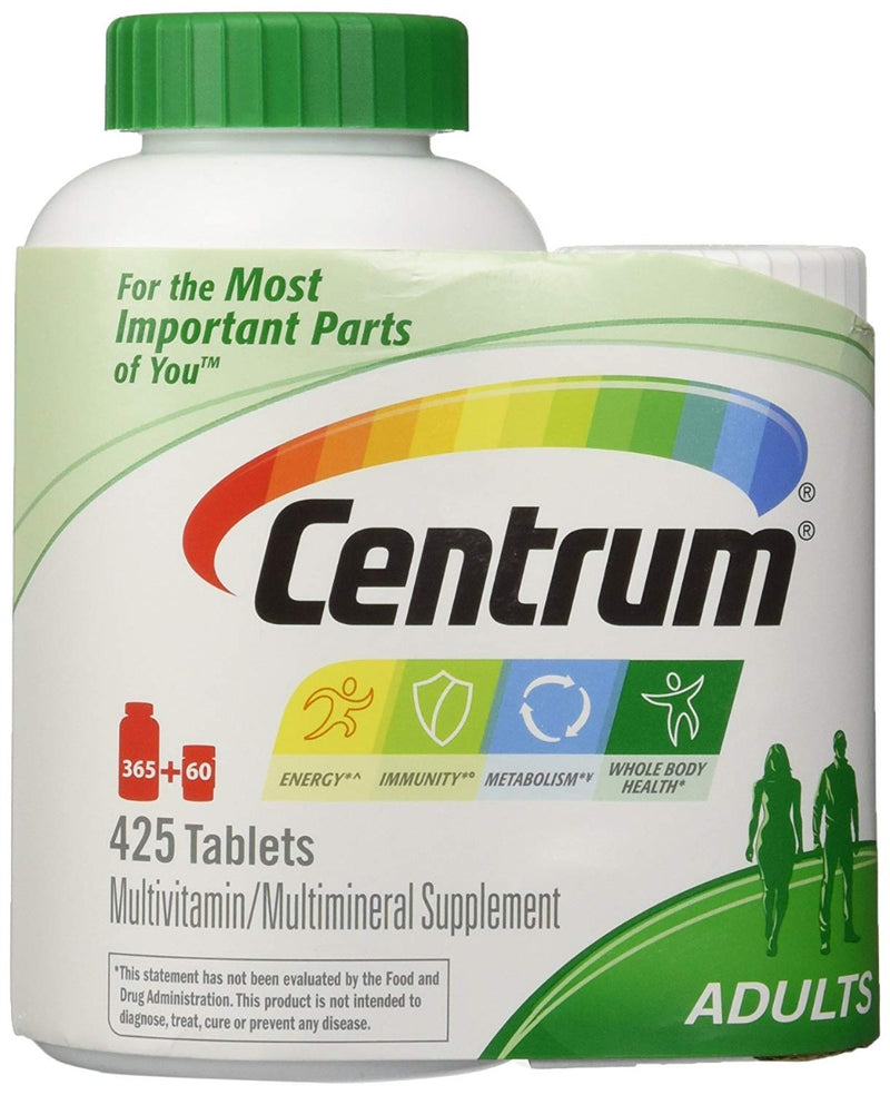 Pfizer Centrum Adults 425 Tablets