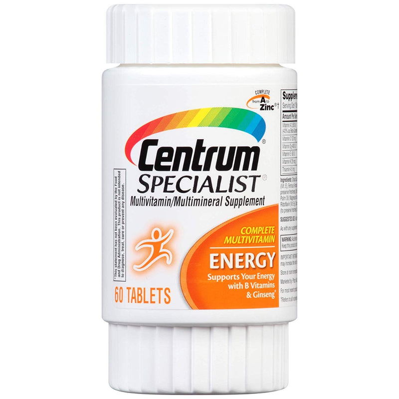 Pfizer Centrum Specialist Multivitamin Energy 60 Tablets