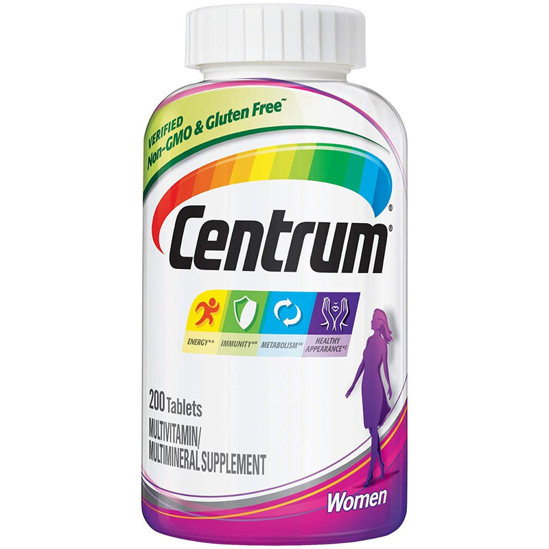 Pfizer Centrum Women Multivitamin 200 Tablets