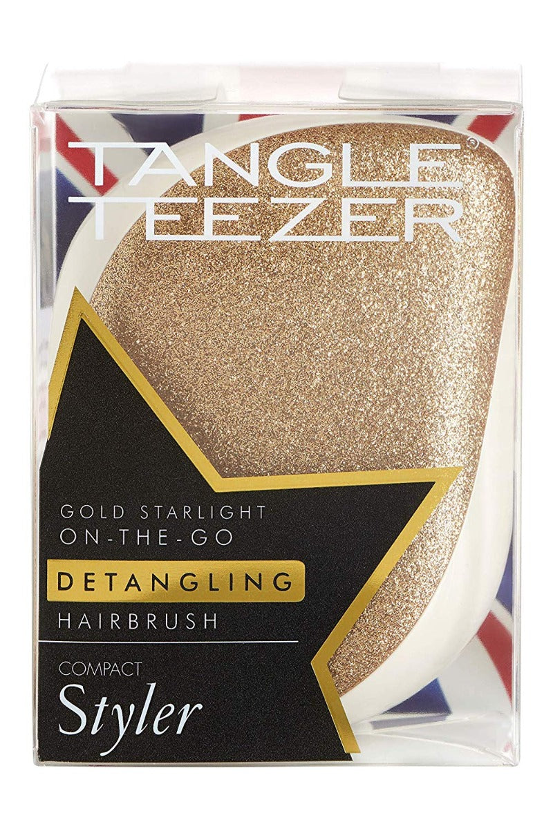 Tangle Teezer Compact Styler Detangling Hairbrush Gold Starlight 1 Product