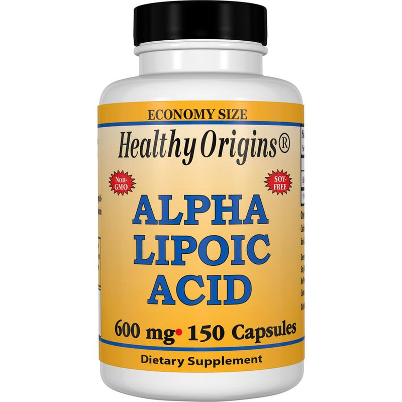 Healthy Origins Alpha Lipoic Acid 600 mg 150 Capsules