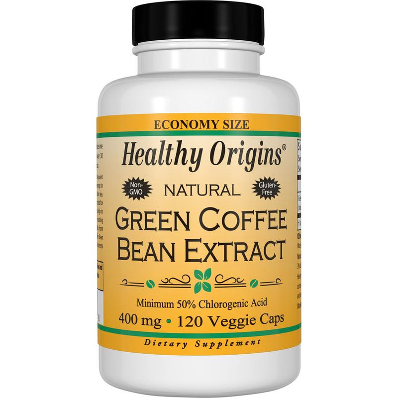 Healthy Origins Green Coffee Bean Extract 400 mg 120 Veg Capsules