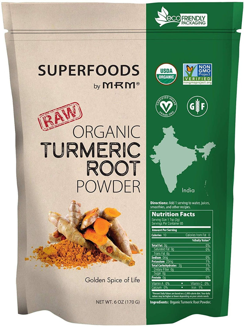 MRM Raw Organic Turmeric Root Powder 6 oz