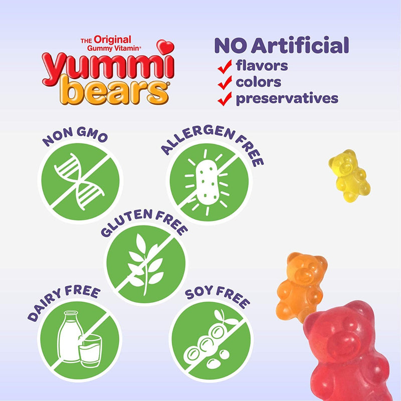 Hero Nutritionals Yummi Bears Vitamin C 132 Gummies