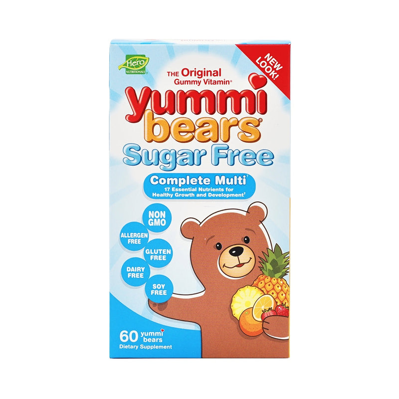 Hero Nutritionals	Yummi Bears Complete Multi Sugar Free 60 Gummies