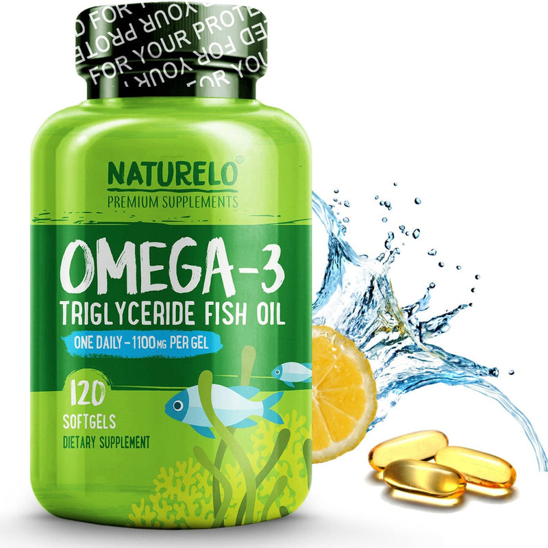 Naturelo Omega-3 Triglyceride Fish Oil 1,100 mg 120 Softgels