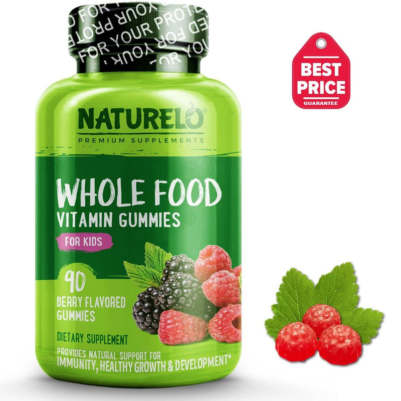 Naturelo Whole Food Vitamin For Kids 90 Gummies