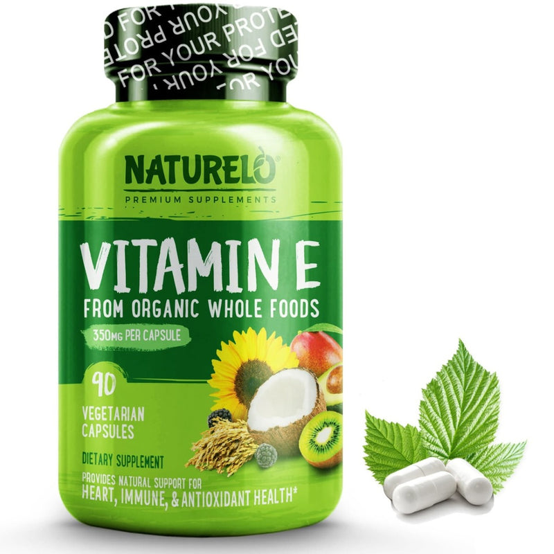 Naturelo Vitamin E 350 mg 90 Veg Capsules