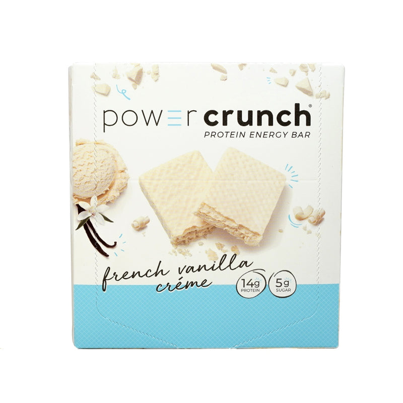 PowerCrunch Original French Vanilla Creme 12 Bars 16.8 oz